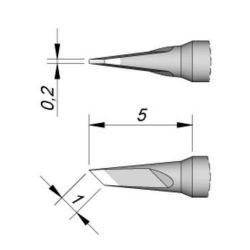 Наконечник JBC C115-120 ножевидный 1,0 х 0,2 мм