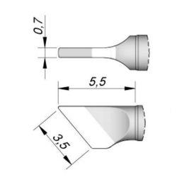 Наконечник JBC C115-211 ножевидный 3,5 х 0,7 мм (высокая теплопередача)