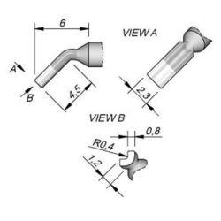 Наконечник JBC C210-015 для пайки внутри разъемов 0,8 мм