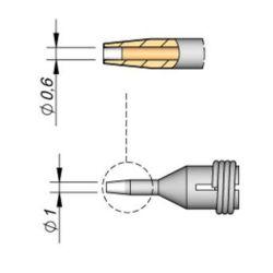 Наконечник JBC C360-001 демонтажный 0,6 мм