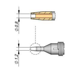 Наконечник JBC C360-002 демонтажный 0,8 мм