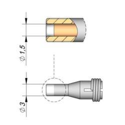 Наконечник JBC C360-006 демонтажный 1,5 мм