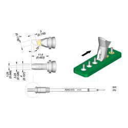 Наконечник JBC R245-013 для пайки выводов по линии 1,25 мм