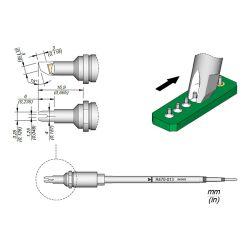 Наконечник JBC R470-027 для пайки выводов по линии 1,25 мм