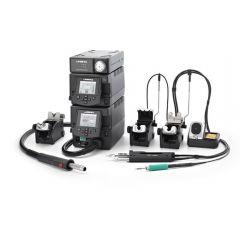 Профессиональная ремонтная станция JBC RMVE-2D с пневматическим компрессором MVE-A и термовоздушным блоком